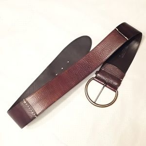 Gap Brown Leather 3 in Waist Belt Size Medium